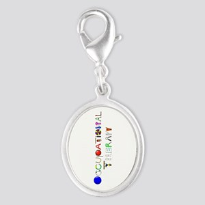 OT at work Silver Oval Charm